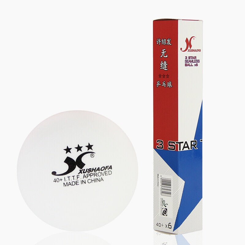 72 balls XuShaoFa Table Tennis Ball 3-Star 40+ XSF Seamless ITTF Approved New Material plastic White poly Ping Pong Balls