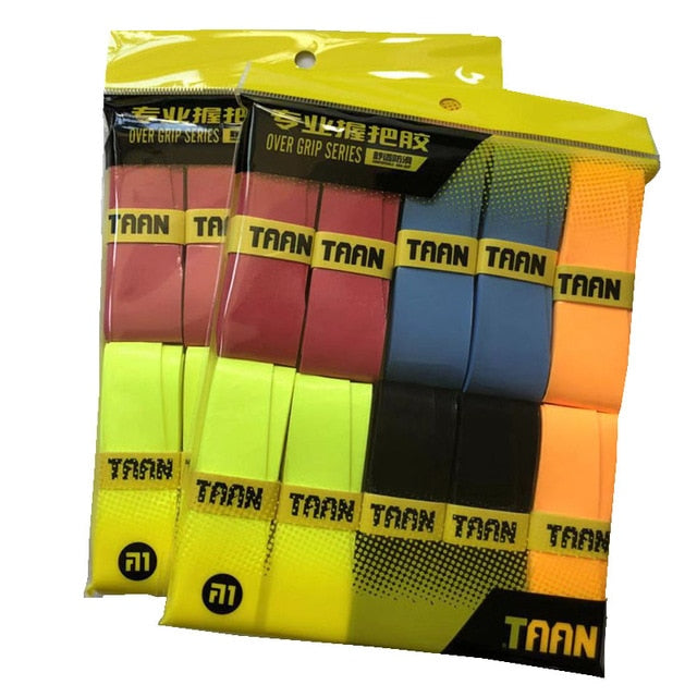 1pack=10pcs TAAN X10 Tennis Racket Overgrips Branded Wearable Tenis Overgrip Abrasive Racquet Hand Glue Badminton sticky grips