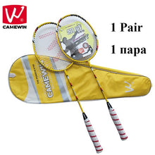 Load image into Gallery viewer, CAMEWIN Professional Badminton Racket Carbon High Quality Badminton Racquet|2 PCS Badminton Rackets+1 Bag| raquete de badminton