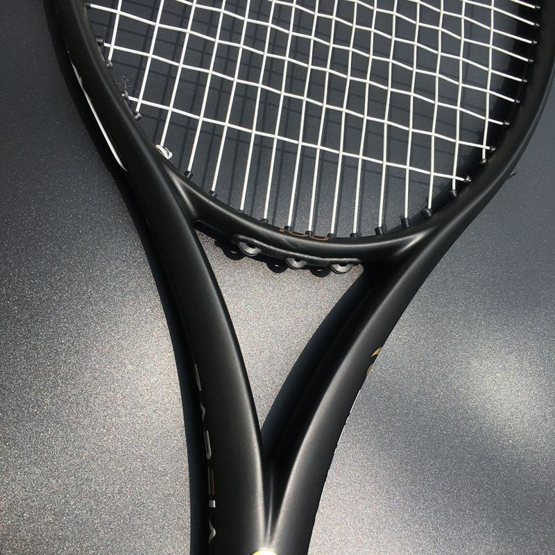 ZARSIA Custom taiwan Tennis racket 100sq.in 300g 16x19 Black tennis racquet 100% carbon foamed handle  with bag