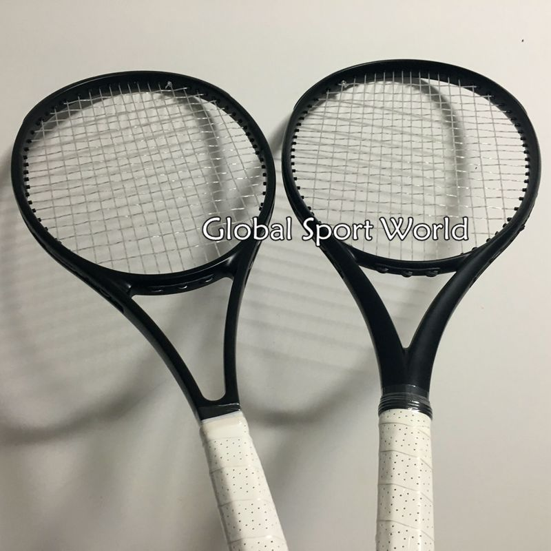 2016 NEW High quality customs Tennis Racquets 100% graphite 2015 tennis rackets Full black 41/4,43/8,41/2 Free shipping
