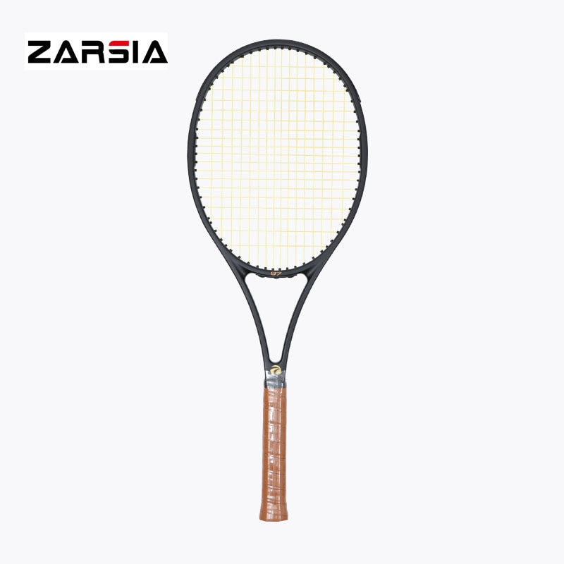 2017 NEW High quality ZARSIA Tennis Racquets 100% graphite tennis rackets Full black 41/4,43/8,41/2 Free shipping