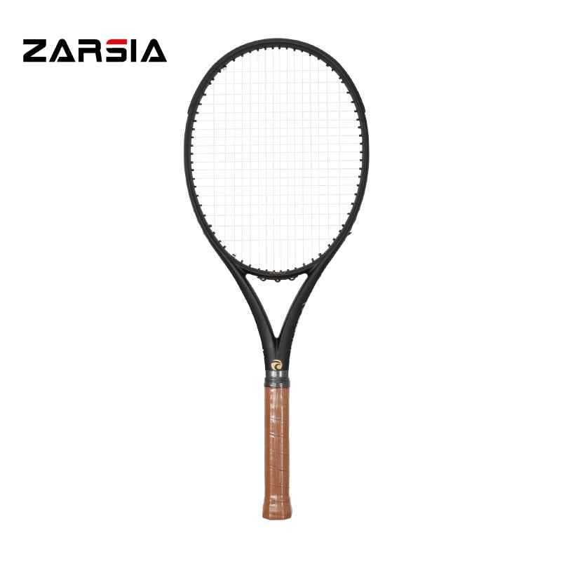 2017 ZARSIA customs Black Tennis Racquets 100% graphite tennis rackets 300g 41/4,43/8,41/2 Free shipping