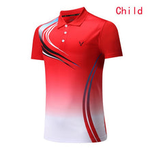 Load image into Gallery viewer, Kids / Female / Male Tennis shirts , Quick dry Badminton clothes ,Table Tennis shirts , PingPong clothing , zumaba tops Uniforms