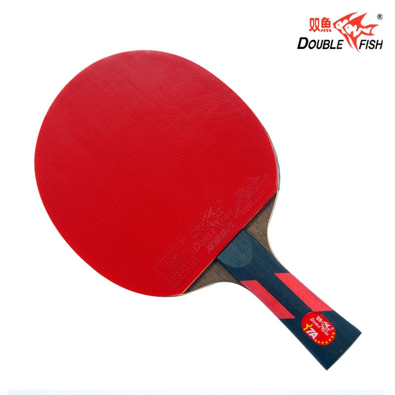 Double fish advance 7AC 7stars table tennis finished rackets paddle 5 Ply wenge wood racquet fast attack with loop ITTF approved