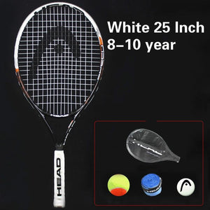 Head Murray 21/23/25 Inch Junior Carbon Fiber Tennis Racquet for Kids Youth Childrens Training Rackets With bag Shock absorber