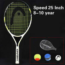 Load image into Gallery viewer, Head Murray 21/23/25 Inch Junior Carbon Fiber Tennis Racquet for Kids Youth Childrens Training Rackets With bag Shock absorber