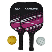Load image into Gallery viewer, Pickleball Racket Set Carbon Fiber Composition PE Honeycomb Core 2 Pickleballs 2 Pickleball Paddle
