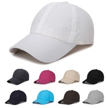 Load image into Gallery viewer, New Arrival Men Women Sports Tennis Caps Outdoor Simple Adjustable Breathable Solid Color Hat  0816