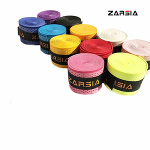 10pcs ZARSIA Free shipping Tennis Racket Grip Anti-skid Sweat embossed Badminton Grips Racquet dry feel dot Overgrips