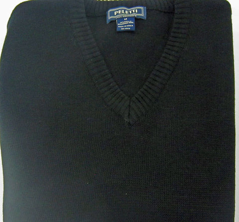 V-Neck Sweater Long Sleeve - Black - Big & Tall