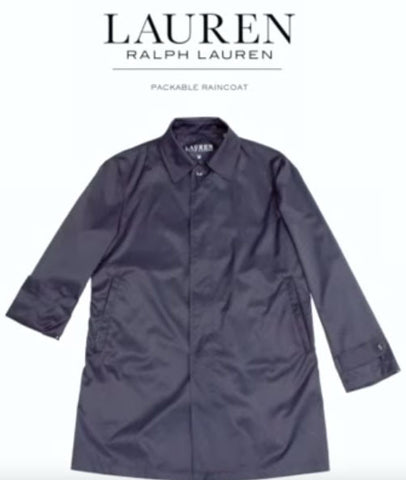 Ralph Lauren Black Packable Raincoat -