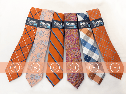 Washable Ties - ORANGE