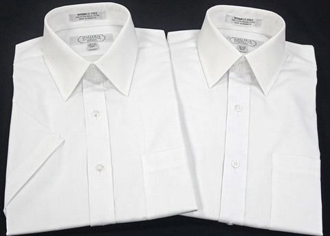 Slim Fit White Shirts - Short Sleeve TALL
