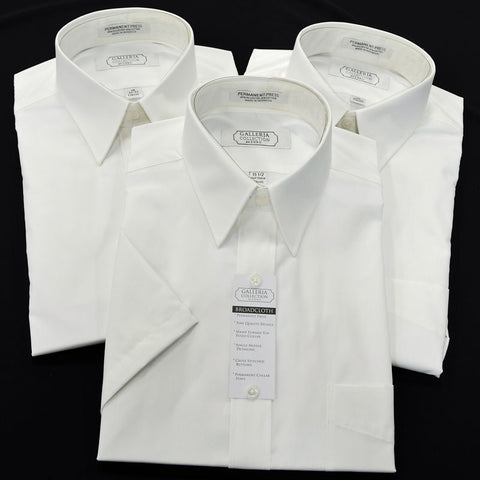 Classic Fit Short Sleeve White Shirt - Big