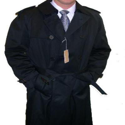 Hart Schaffner Marx Trench Coat - Black
