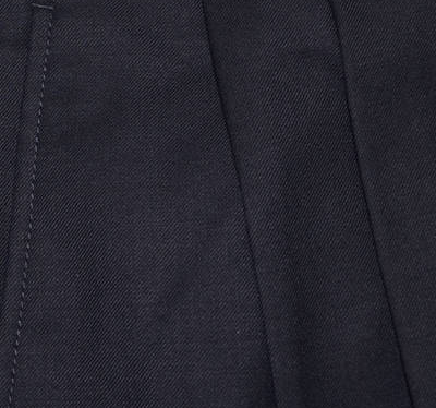 Washable Wool Blend Pleated Pants - Navy