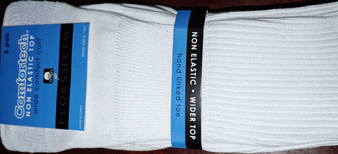 White sock - Diabetic - 2pack