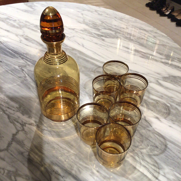 Gold glass set
