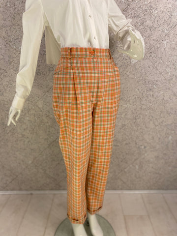 Peachy! Check Hi-waist Pants