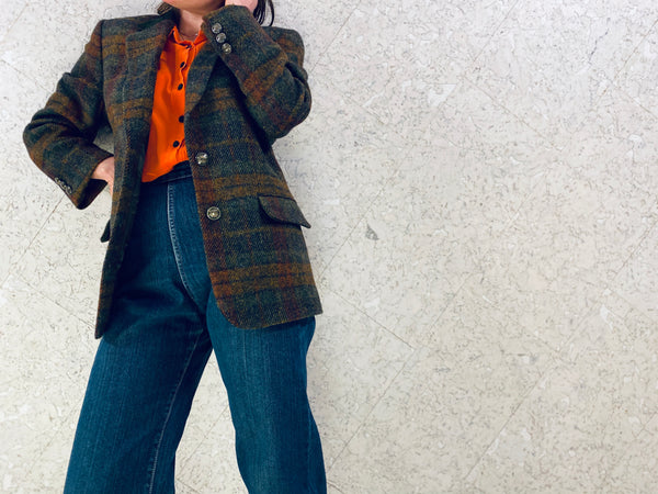 "Vintage ""Annie Hall"" Tweed Blazer"