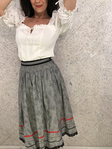 Vintage West German Summer Skirt