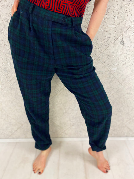 Burberry - Designer - Check Wool Trousers