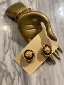 Vintage Versace-esque Clip-on Earrings