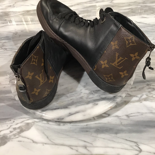 Louis Vuitton Leather Hi-Top Sneakers