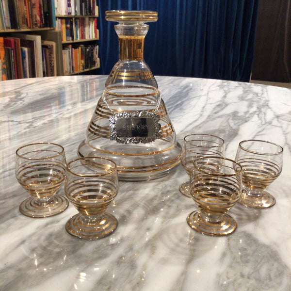 Sherry decanter and glasses