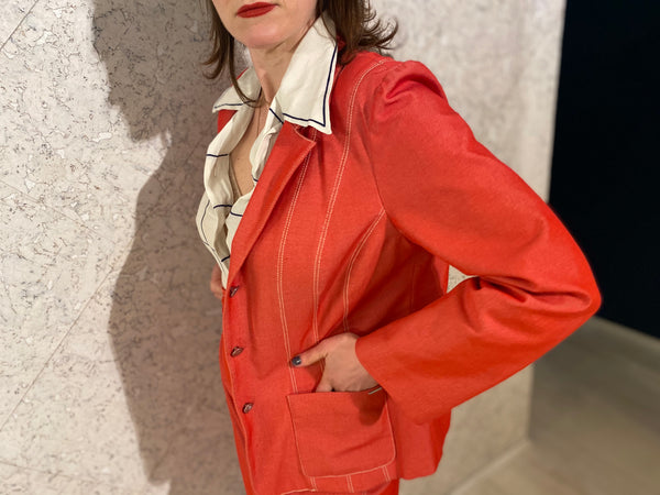 KENZO Red Tailored Skirt Suit