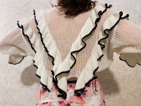 Super Cute Ruffle Knit Top
