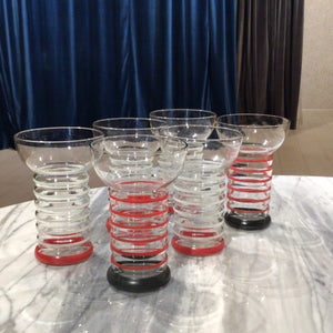 Set of 6 Retro Glasses