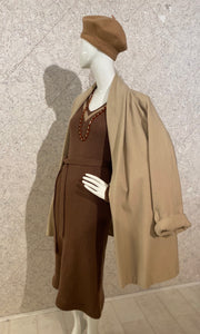 Vintage Camel Wool/Cashmere Swing Coat