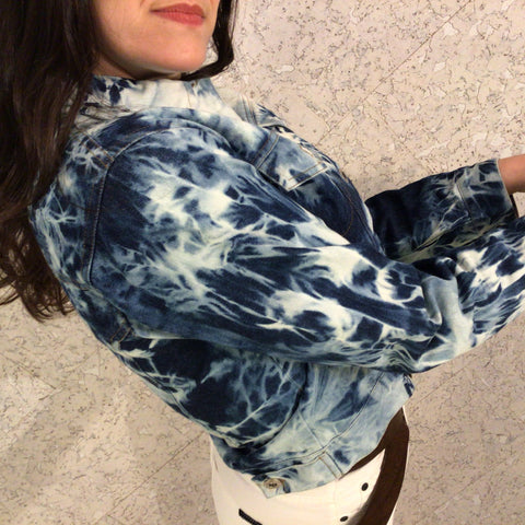 Arctic hand dyed denim jacket
