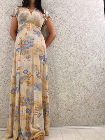 Jody of California Vintage Floral Maxi-dress