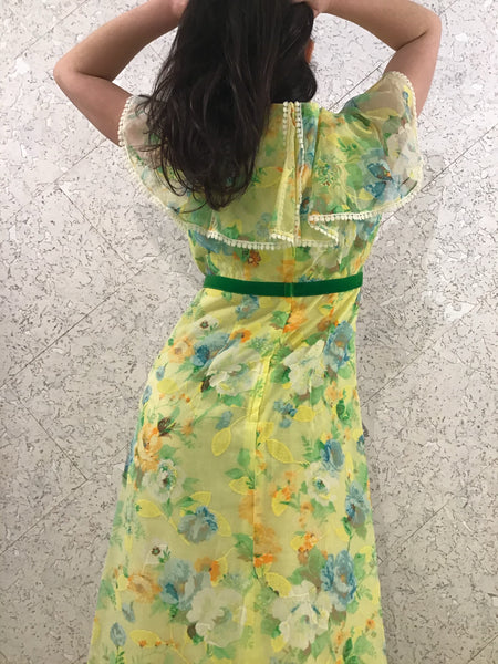 Vintage Aloha Hawaiian Maxi-Dress