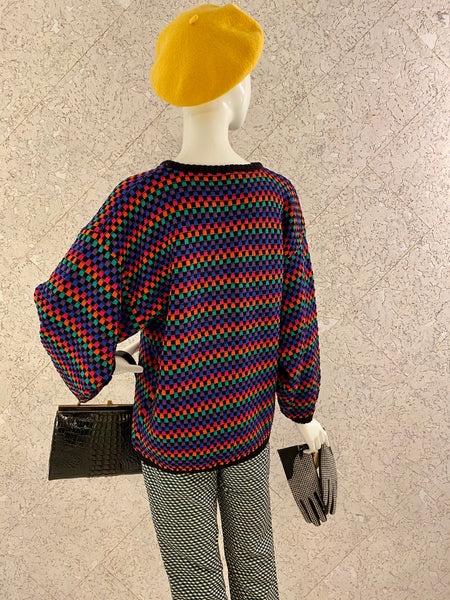 Vintage Check Multi-colour Knit Jumper