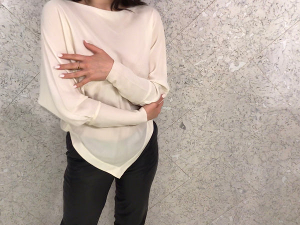 Willow Cream Silk Blouse