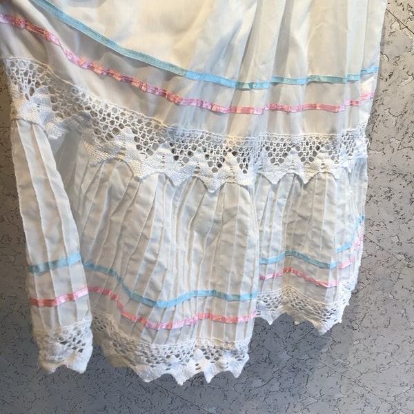 Vintage Mexican White Party Dress