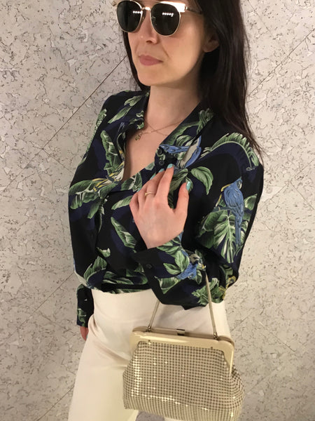 Stella McCartney Silk Parrot Blouse