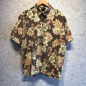 Brown Hibiscus Hawaiian shirt