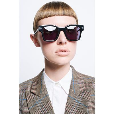 Karen Walker Unisex Sunglasses - Julius (Black)