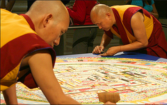 Infinity Angel Shares Monks Creating a Mandala
