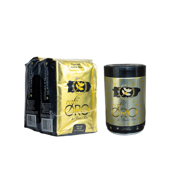 Bundle: 2 units of 14 oz Café Oro Ground Coffee & one 8 oz Can