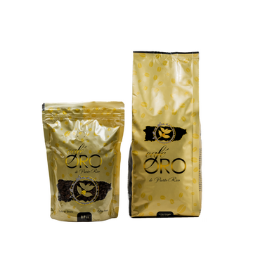 Bundle: 8.8 oz & 2 lb Cafe Oro Coffee Beans