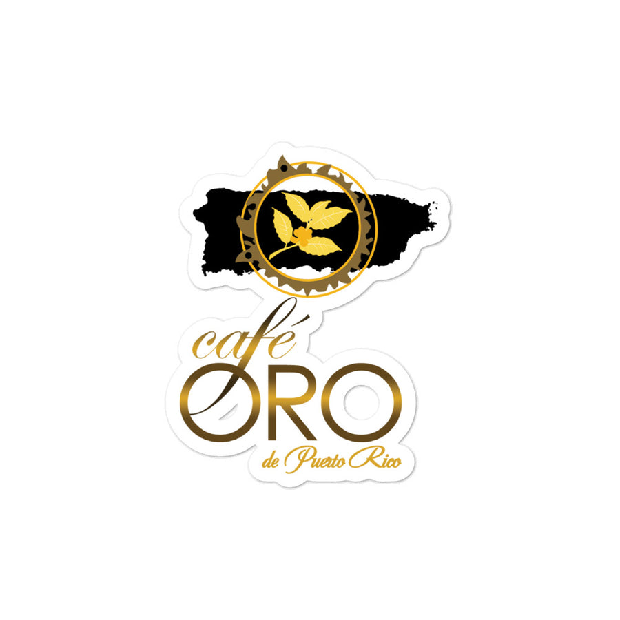 Sticker Café Oro