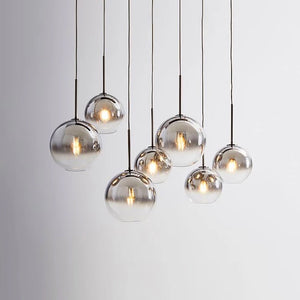 Modern Pendant Glass Ball Hanging Lamp