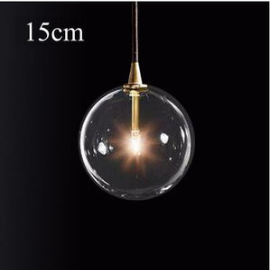 Modern Glass Ball Pendant Light