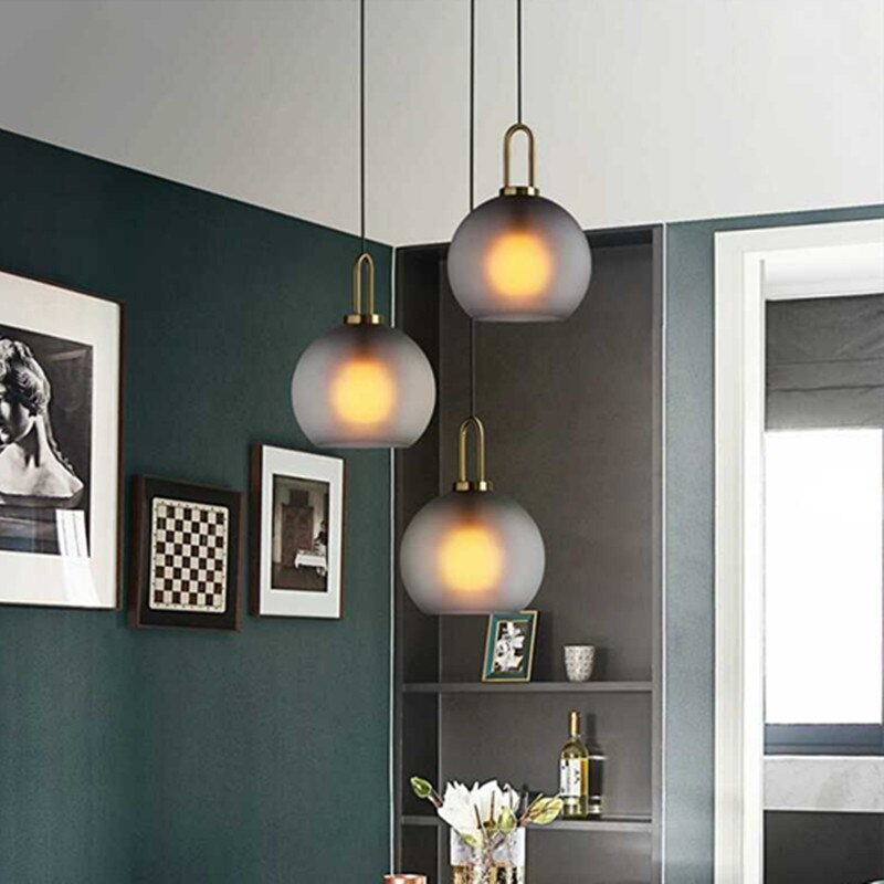 Modern Frosted Glass Ball Pendant Light